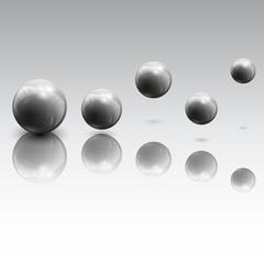 Spheres in motion vector illustration