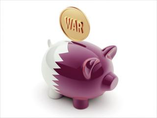 Qatar War Concept. Piggy Concept