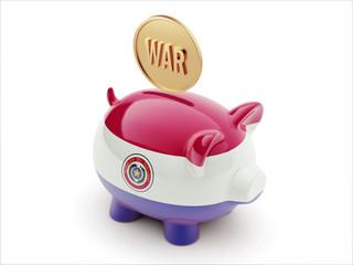 Paraguay War Concept. Piggy Concept