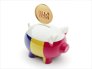 Romania War Concept. Piggy Concept