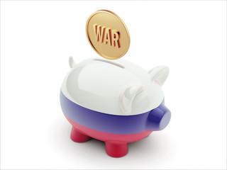 Russia War Concept. Piggy Concept