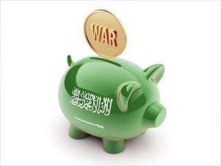Saudi Arabia War Concept. Piggy Concept