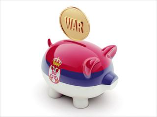 Serbia War Concept. Piggy Concept