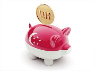 Singapore War Concept. Piggy Concept