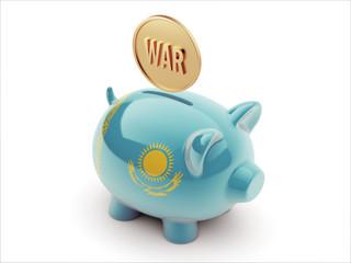 Kazakhstan War Concept. Piggy Concept