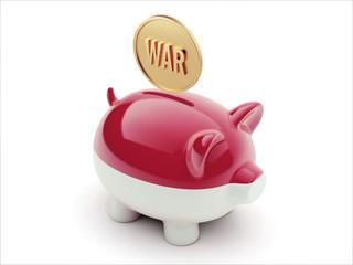Indonesia War Concept. Piggy Concept