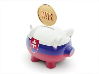 Slovakia War Concept. Piggy Concept