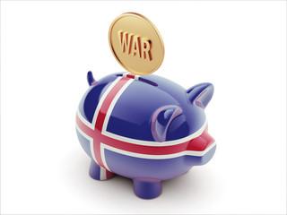 Iceland War Concept. Piggy Concept
