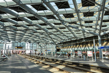 Intérieur de la gare centrale de La Haye, Pays-Bas