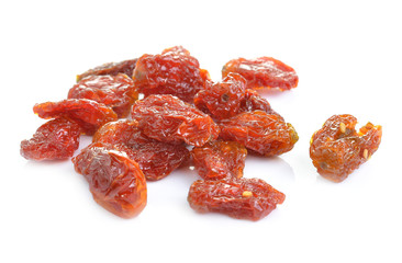 Dried tomato on white