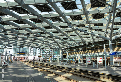 Interior of The Hague central station, Netherlands - 66569048