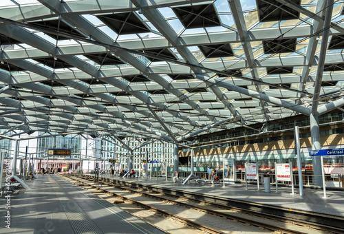 Aluminium Treinstation Interior of The Hague central station, Netherlands