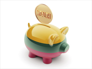 Lithuania Wealth Concept Piggy Concept