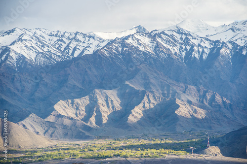 Fototapeta View on Spituk buddhist monastery near Leh, Lada