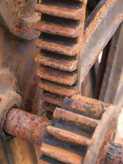 Rusty gear detail