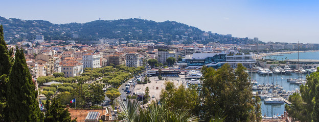 Cannes, France. Typical urban view from a high point