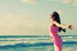 woman on the seaside