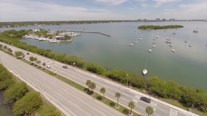 JFK Causeway Miami aerial video