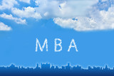 Master of Business Administration (MBA) text on cloud poster