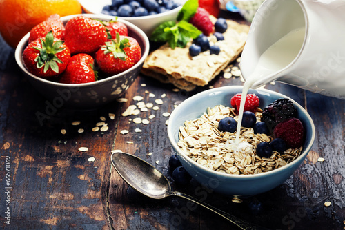 canvas print picture diet breakfast