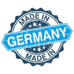 Made in Germany vintage stamp isolated on white background