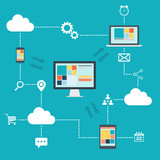 Cloud Computing illustration.