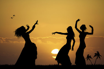Hawaiian girls