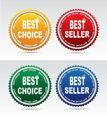 Bestseller labels and choice labels
