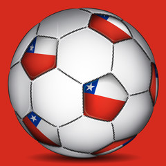 Chile soccer ball, vector
