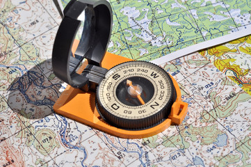 Maps and compass.