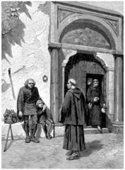 Pilgrims - Pèlerins - end 15th century