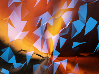 Abstract polygonal background for design