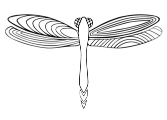 coloring book dragonfly