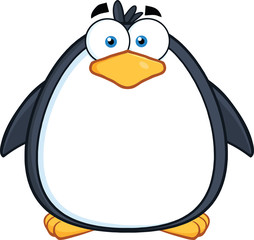 Cute Penguin Cartoon Mascot Character