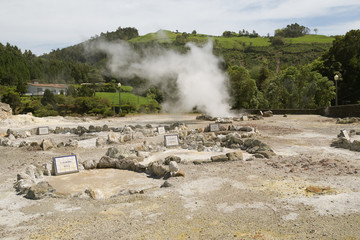 Thermal springs on the Sao Miguel, Azores
