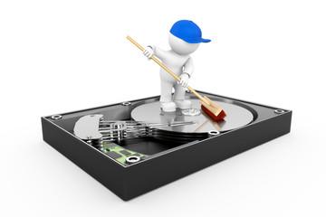 Festplatte säubern