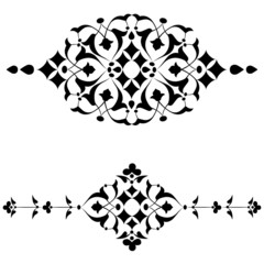 Ottoman motifs black design series of fifty four