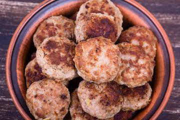 Tasty fried cutlets