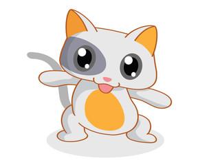 cartoon funny cat posing