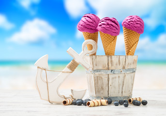 Icecreams At The Beach