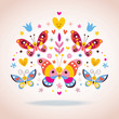 Cute butterflies vector illustration