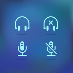 Sound icon set