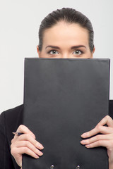 Business lady with documents