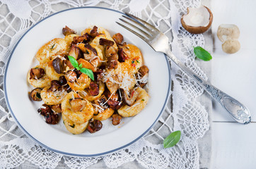 Italian gnocchi with wild mushrooms