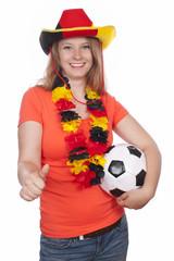 Weiblicher deutscher Fußballfan