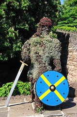 Floral knight with shield and sword, Tamworth © Arena Photo UK