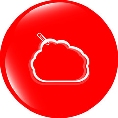abstract cloud upload icon / button, design element