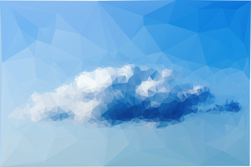 Cloud computing. Polygon shape vector.