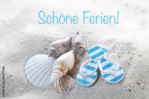 canvas print picture Schöne Ferien!