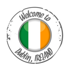 stamp Welcome to Dublin